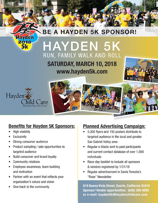 Hayden K Sponsor Levels Hayden Child Care - Car show sponsorship levels
